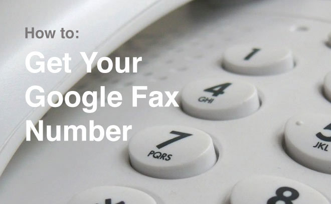 how to get your google fax number