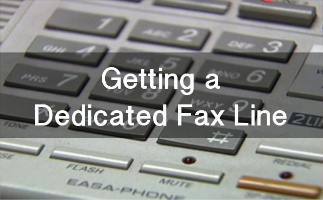 dedicated fax line