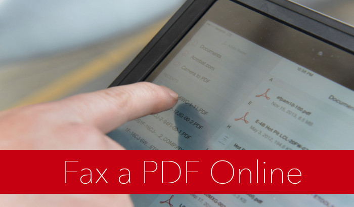 how to fax a pdf